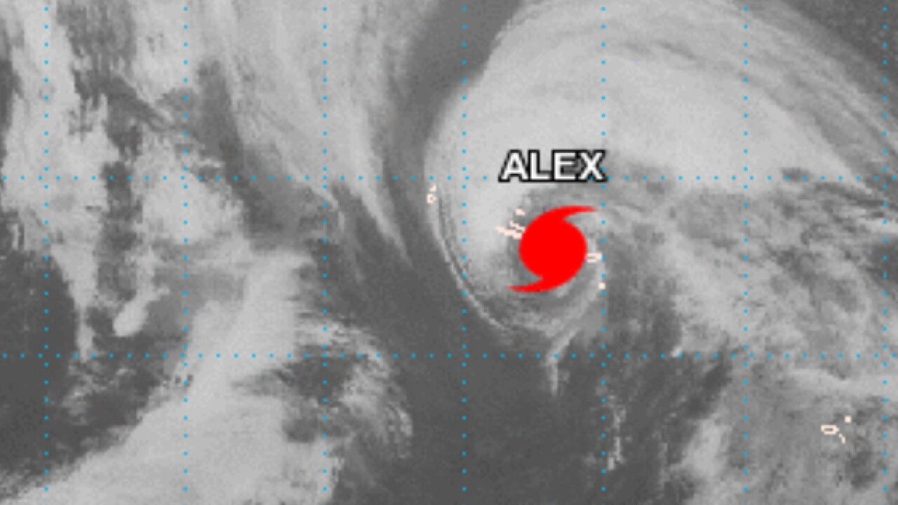 Atlantic Hurricane Alex is extremely rare