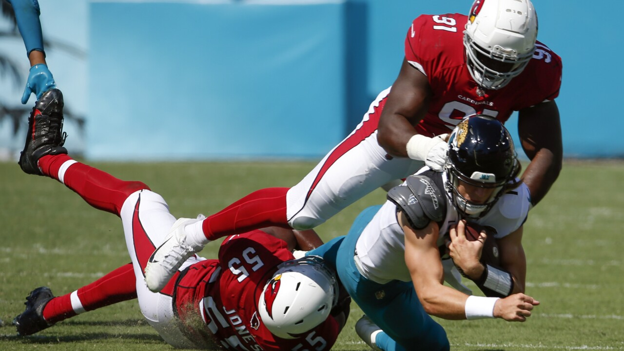 The Arizona Cardinals are 3-0 this season and it's not just the offense that's performing at a high level. AP photo.