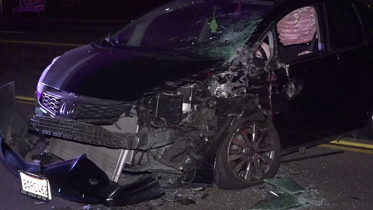 Driver arrested after wrong-way crash