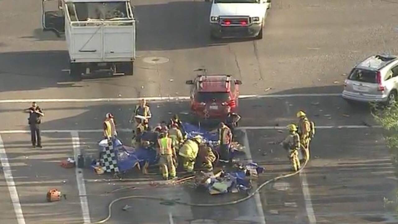Plane crashes into Phoenix intersection