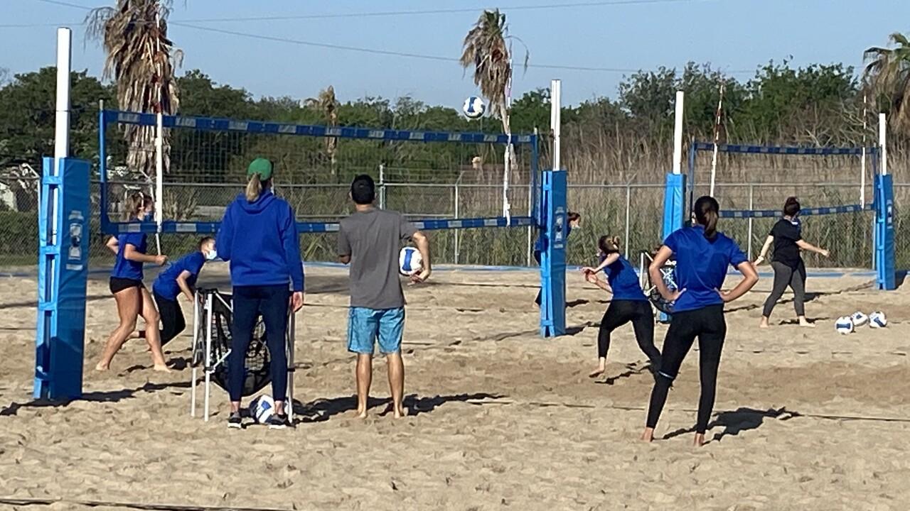 Islanders beach volleyball