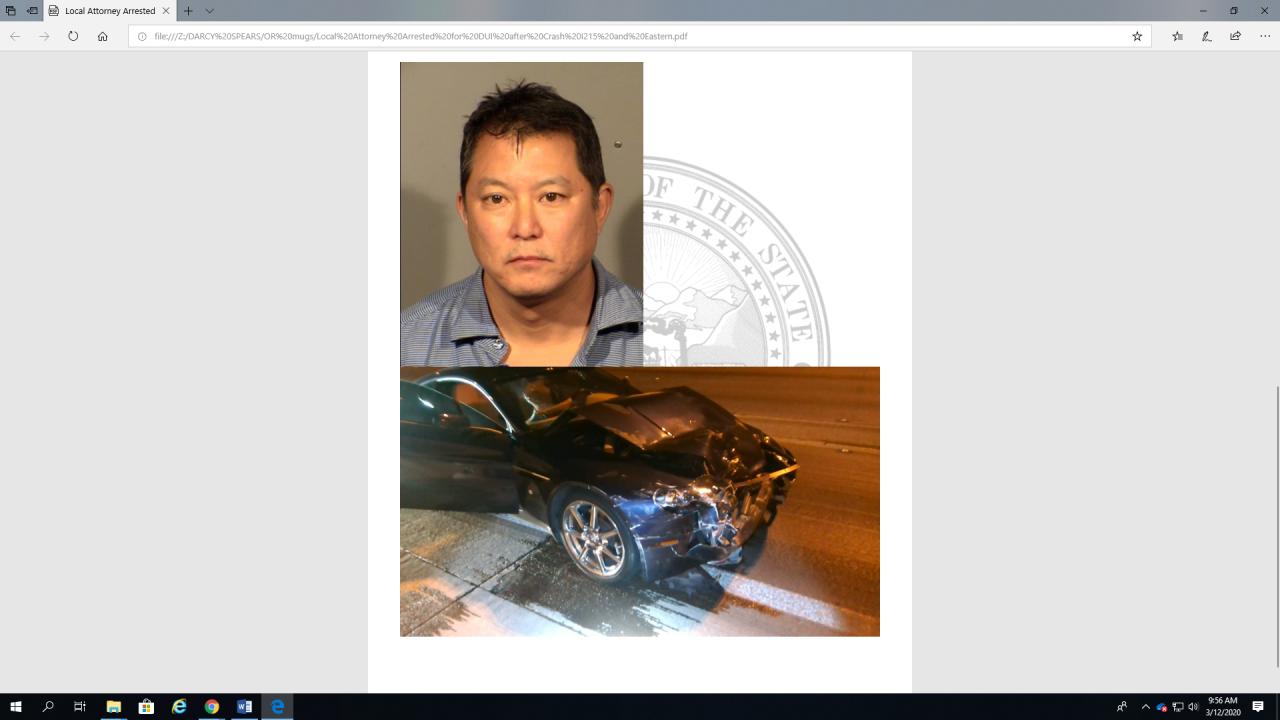 Garrett Ogata 2019 DUI crash