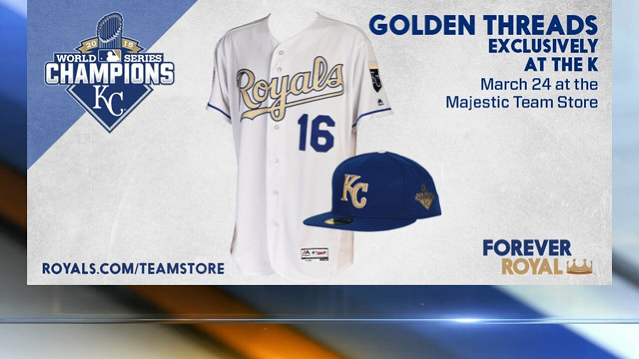 best value 95b70 4fc7f Royals to wear Golden Threads during Mets series