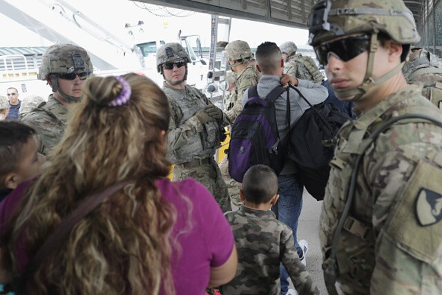 Troops deployed to U.S.-Mexico border