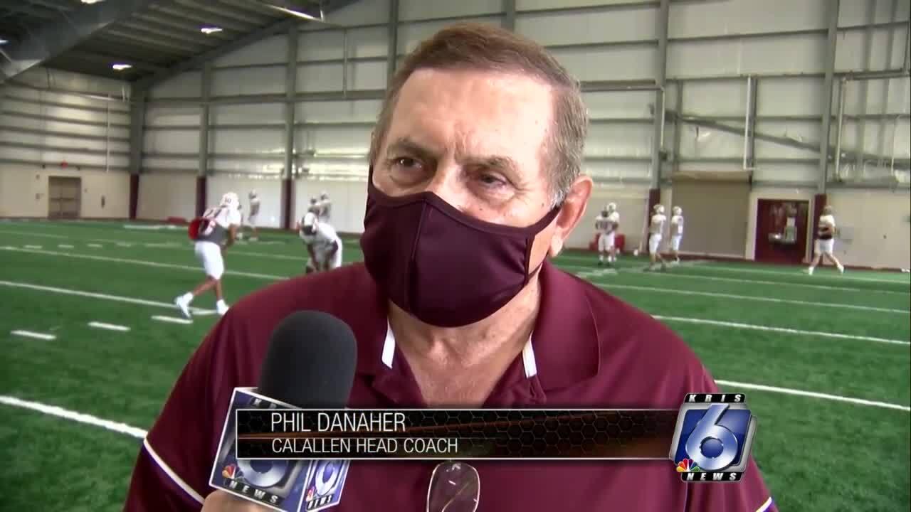Calallen coach Phil Danaher