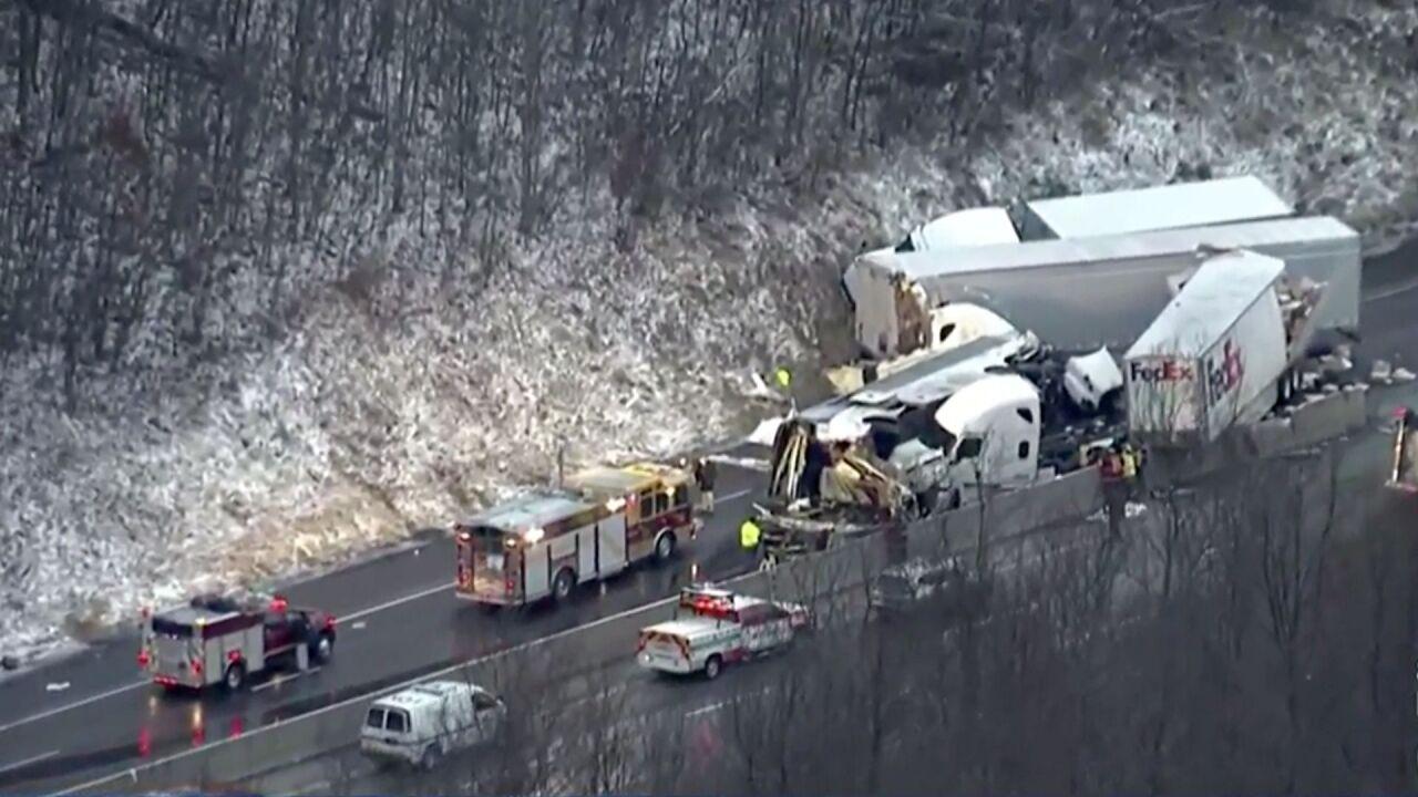 5 dead, dozens hospitalized in Pennsylvania Turnpike crash