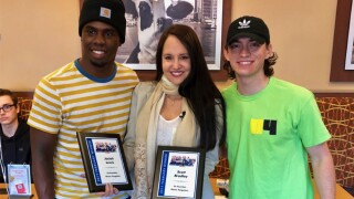 Scott Bradley and Josiah Lewis are the February 2019 winners of the Chick-fil-A Everyday Heroes award