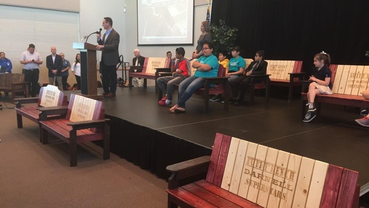 Las Vegas schools getting Buddy Benches