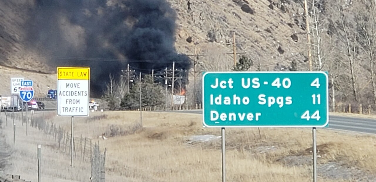 Jan 16 2020 semi fire on I-70