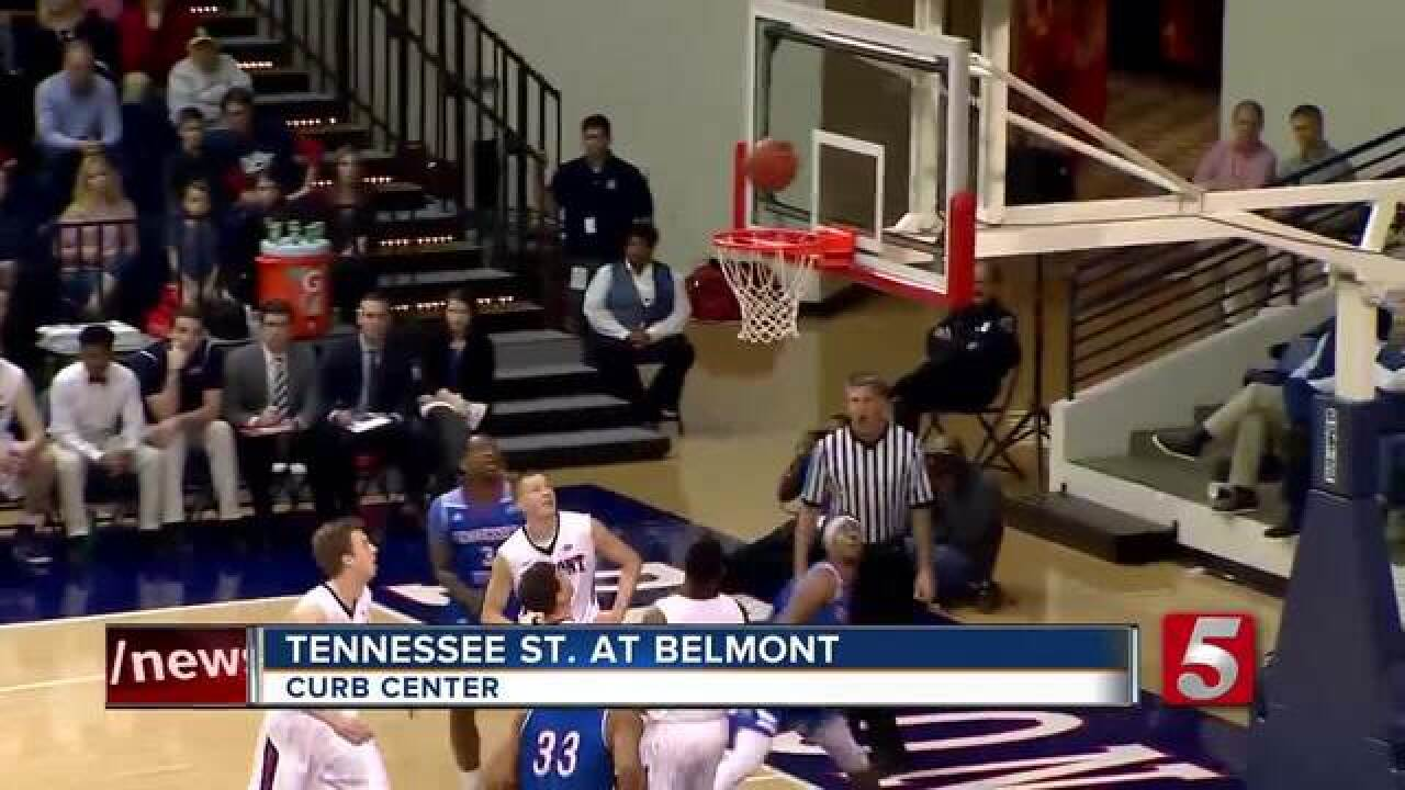 Belmont Holds Off Tennessee State 68-63