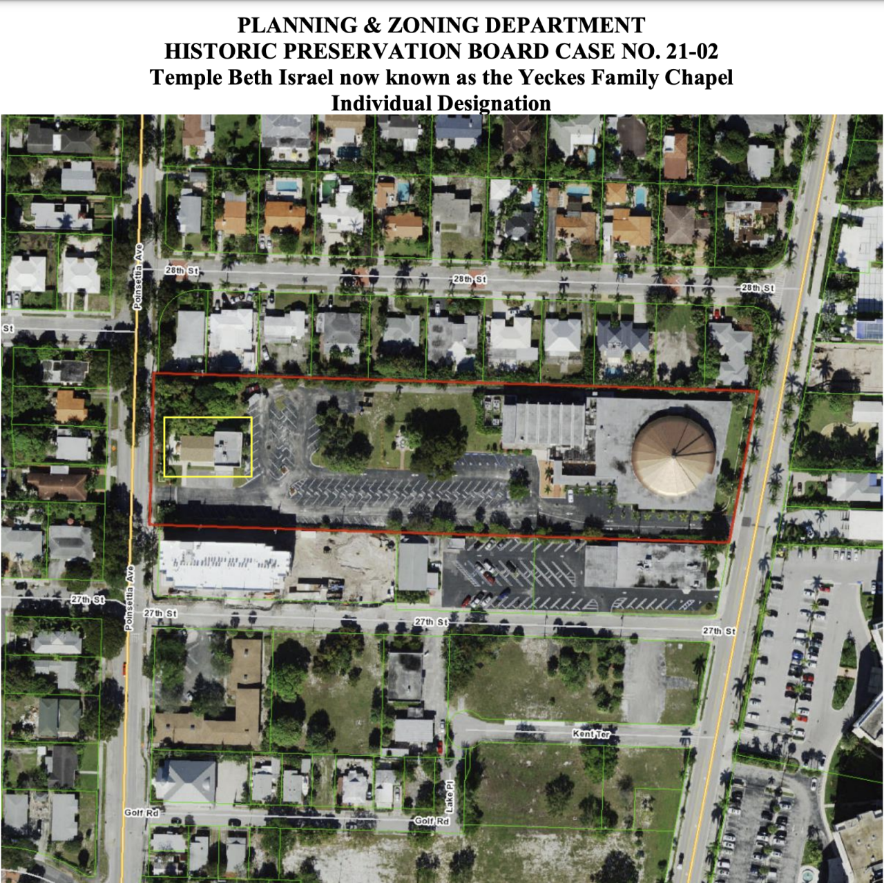 The oldest synagogue in Palm Beach County, Temple Beth Israel, is being considered again to be designated as a historic place.