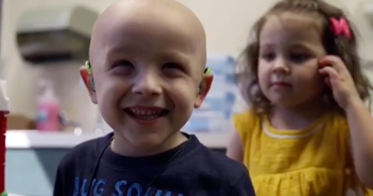 Precious moment as 4-year-old with cancer gets hearing aids