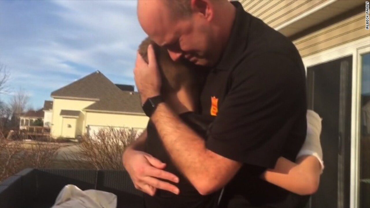 Emotional moment colorblind boy sees colors for first time