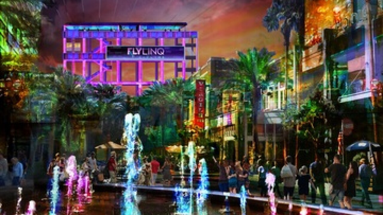 The LINQ Promenade is getting a zip line