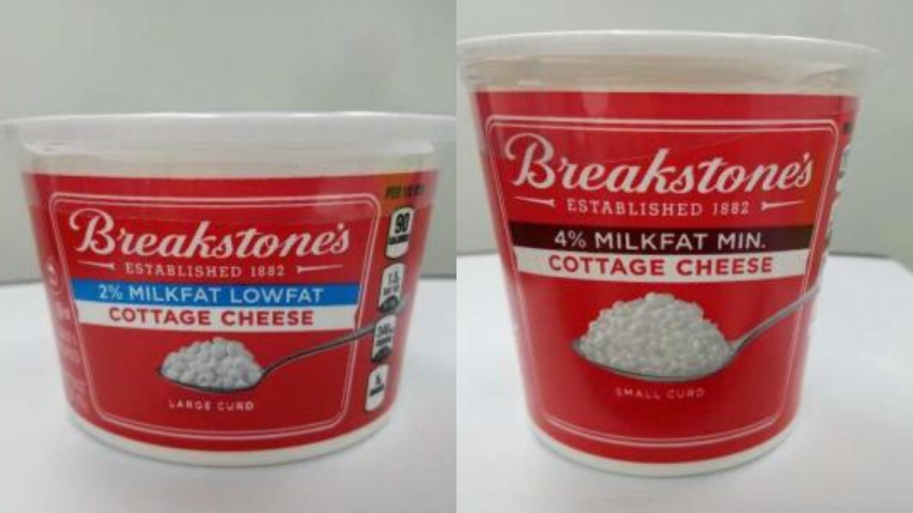 Breakstone's Cottage Cheese recalled for potential presence of metal pieces and plastic