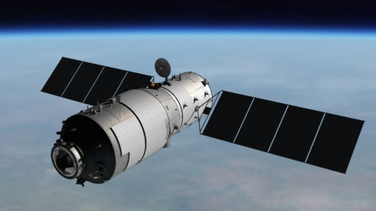 Space station set to plummet back to Earth
