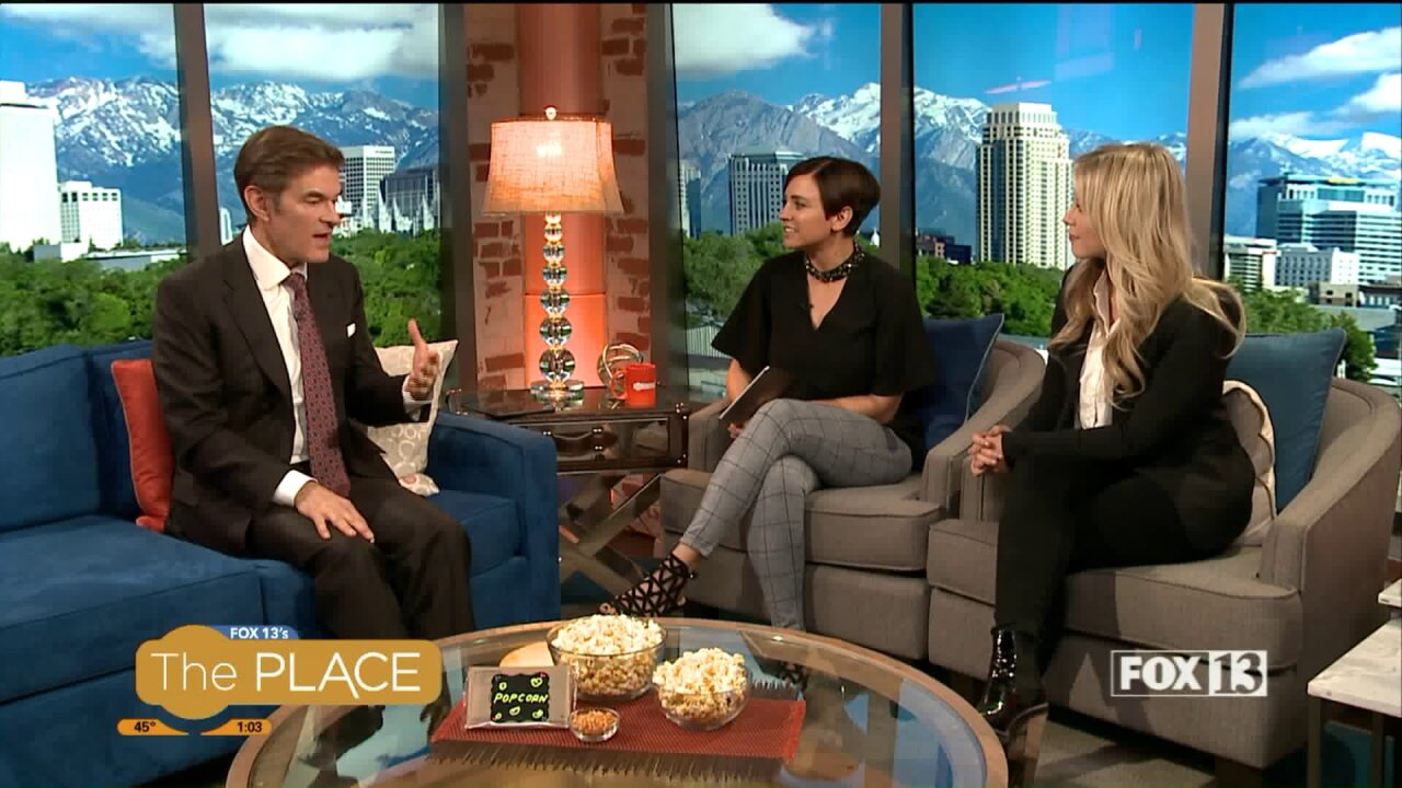 Dr. Oz Stops By, Tells Us Why He's Wearing a Red Suit on Utah Slopes!
