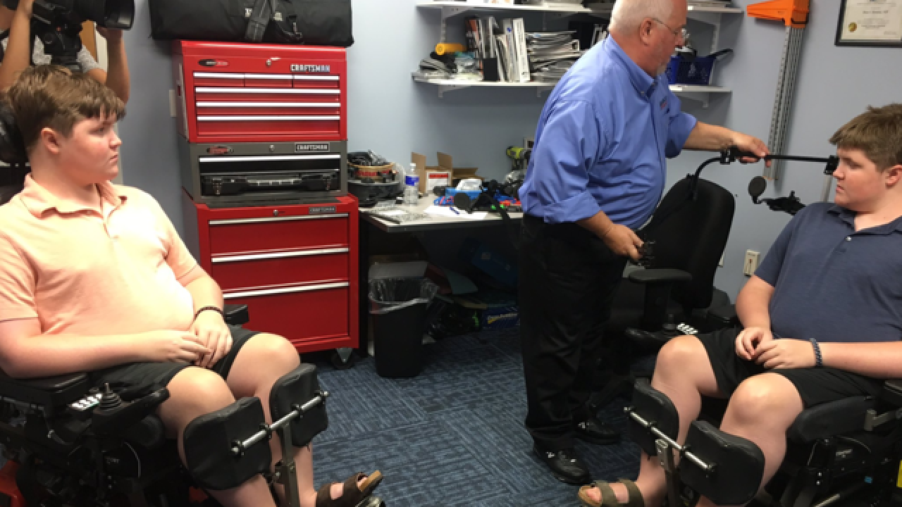 12 local boys measured for robotic exoskeleton arms suffer from DMD