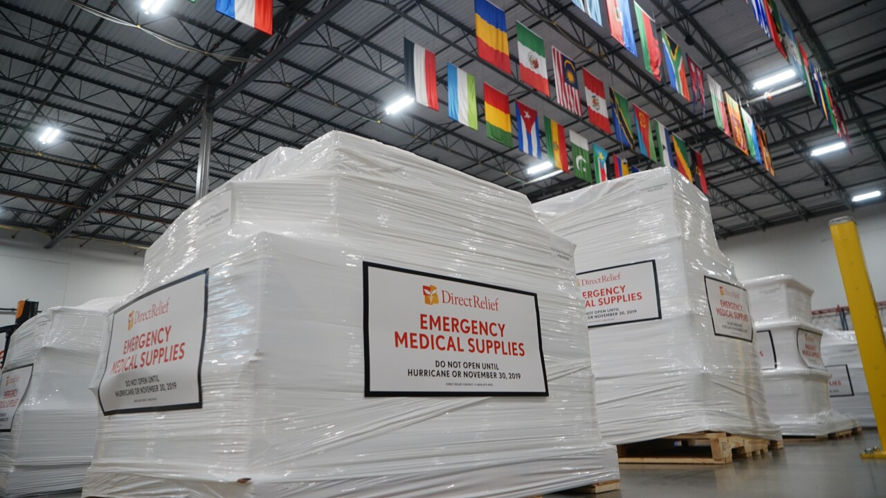 Direct Relief sends medical supplies to Hurricane Dorian Victims