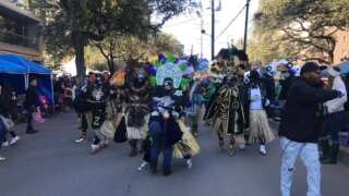 Krewes of Zulu and Rex roll in New Orleans