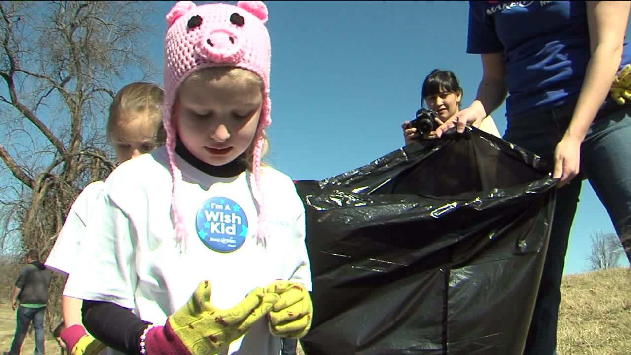 8-year-old girl with cancer uses Make-A-Wish to clean up trash