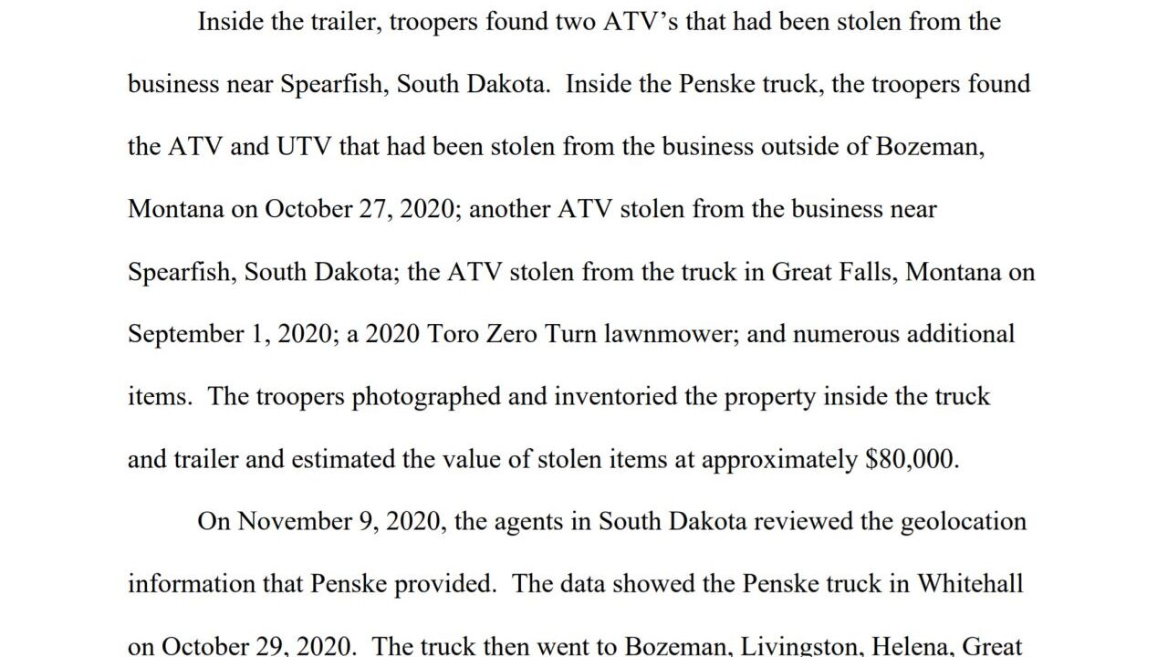 Hill admits meth trafficking in Great Falls and his role in a crime spree of stolen ATVs