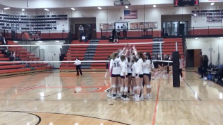 Lakewood volleyball celebrates state quarterfinal win