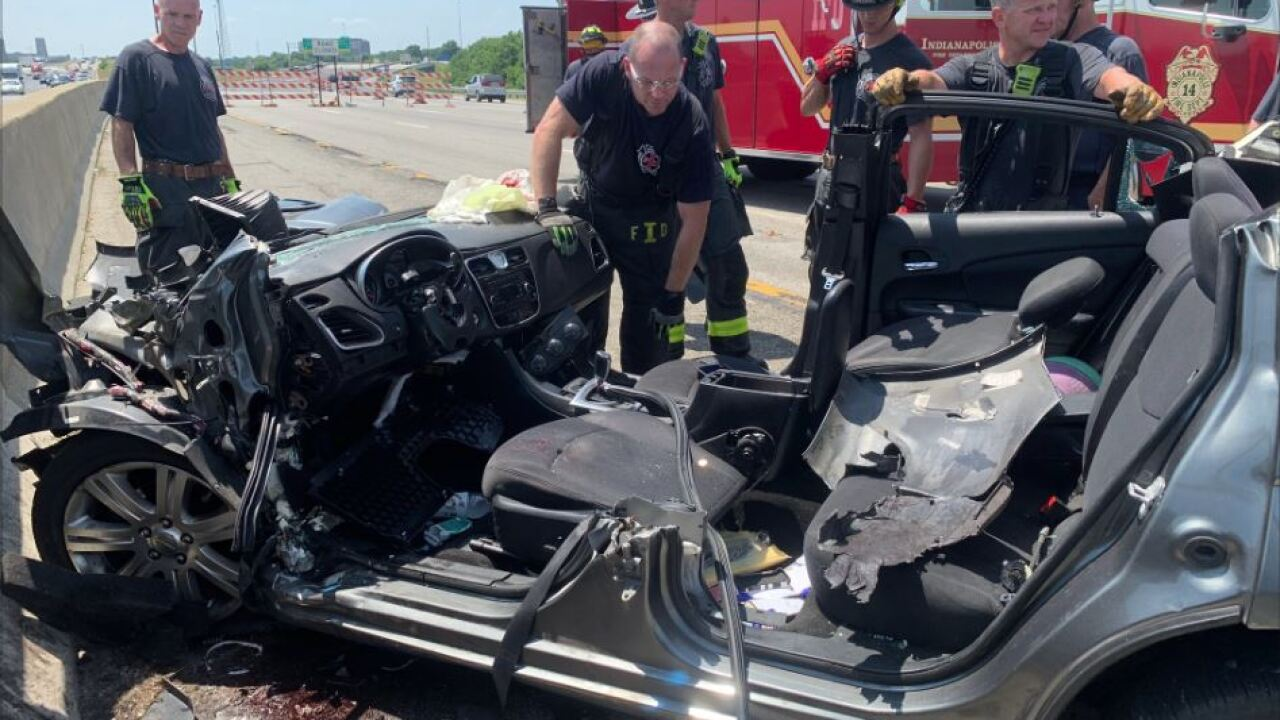Man killed in single-car crash on Interstate-70 near