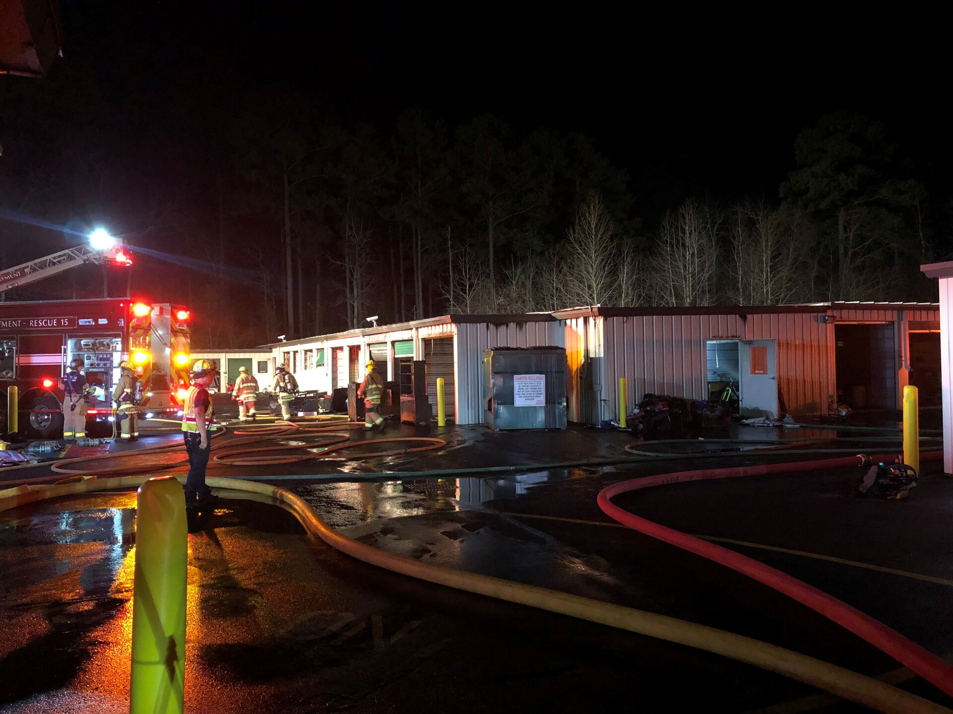 Photos: Multiple storage units catch fire in Chesapeake