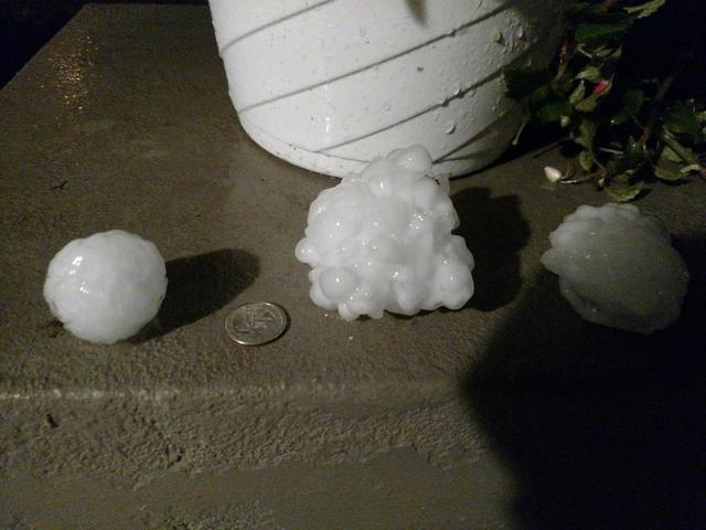 PHOTO GALLERY: Hail, damages from Thursday's severe thunderstorm