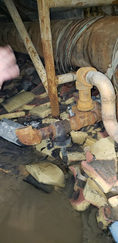 Damage in We Energies steam tunnel.jpg