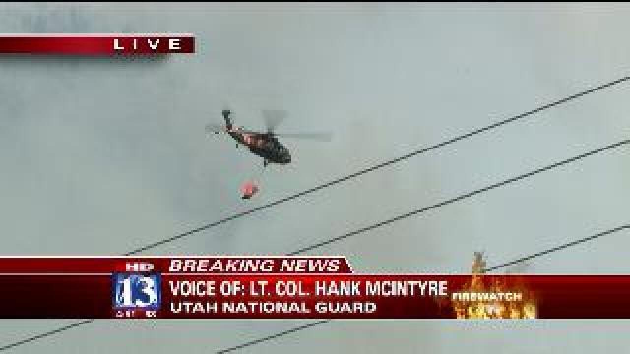 VIDEO: Utah National Guard on Quail Fire