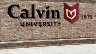 Calvin University Burton St Sign.jpg