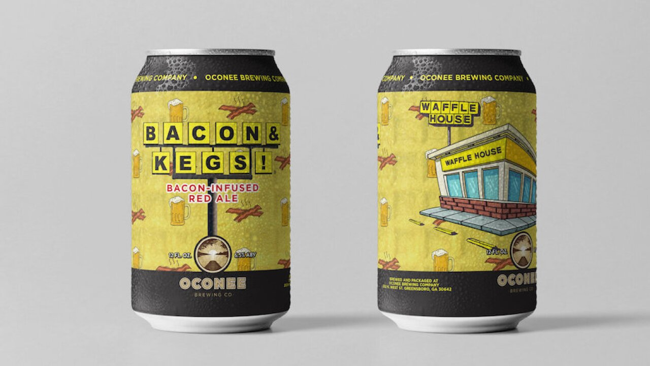 Waffle House collabs on bacon-flavored beer: 'Bacon & Kegs'