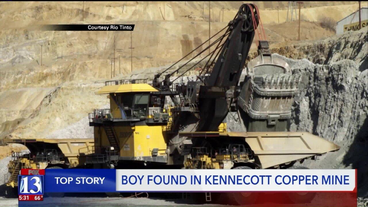 Child found on active haul road in Kennecott CopperMine