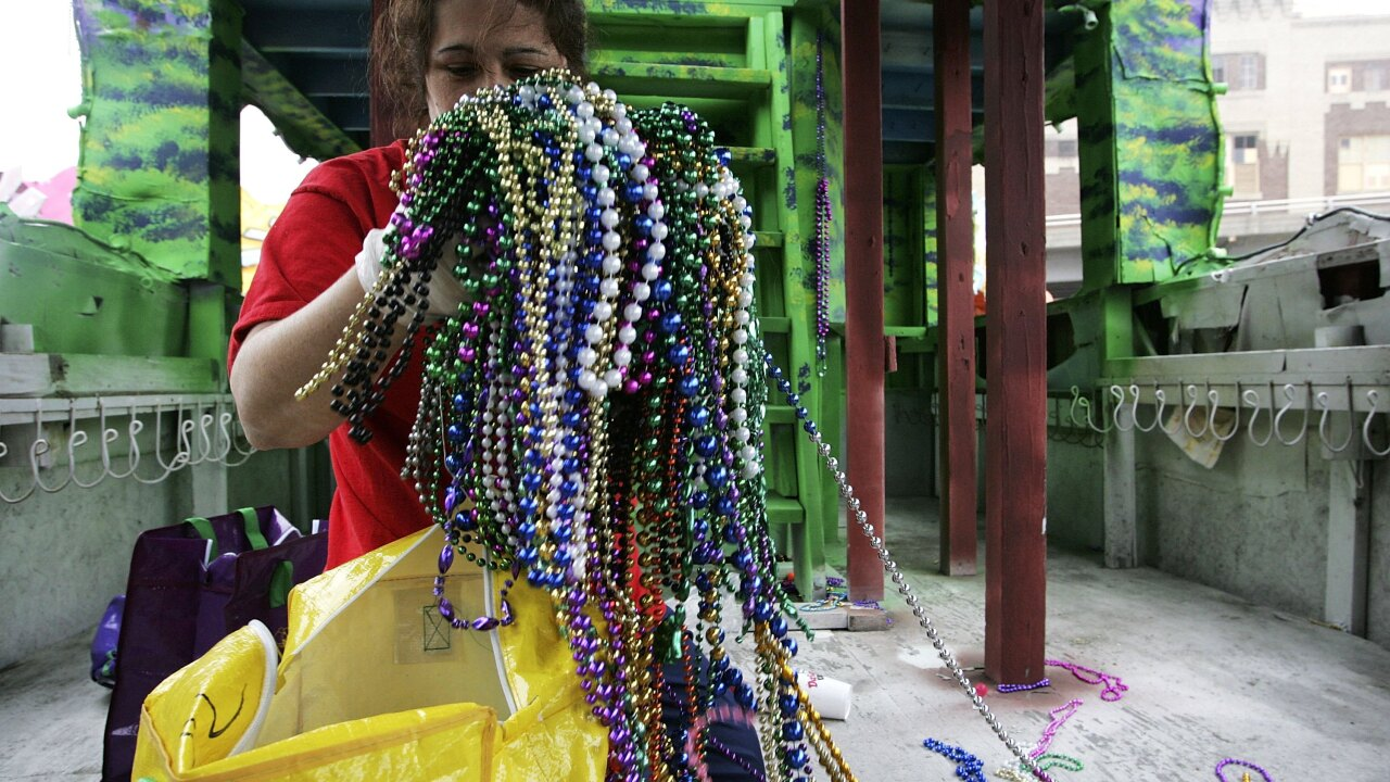 Mardi Gras 2019: Plastic beads still an environmental problem
