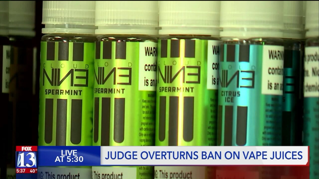 Judge overturns ban on sale of flavored vape juices