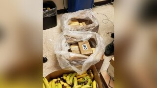More than $1 million in cocaine was found hidden in boxes of bananas at three grocery stores