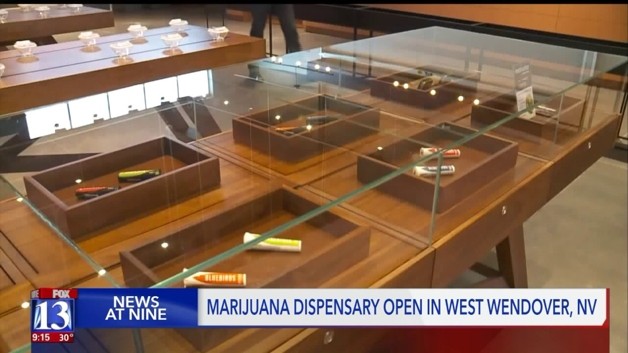 Recreational marijuana dispensary opens in West Wendover