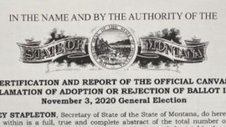 Montana certifies election results