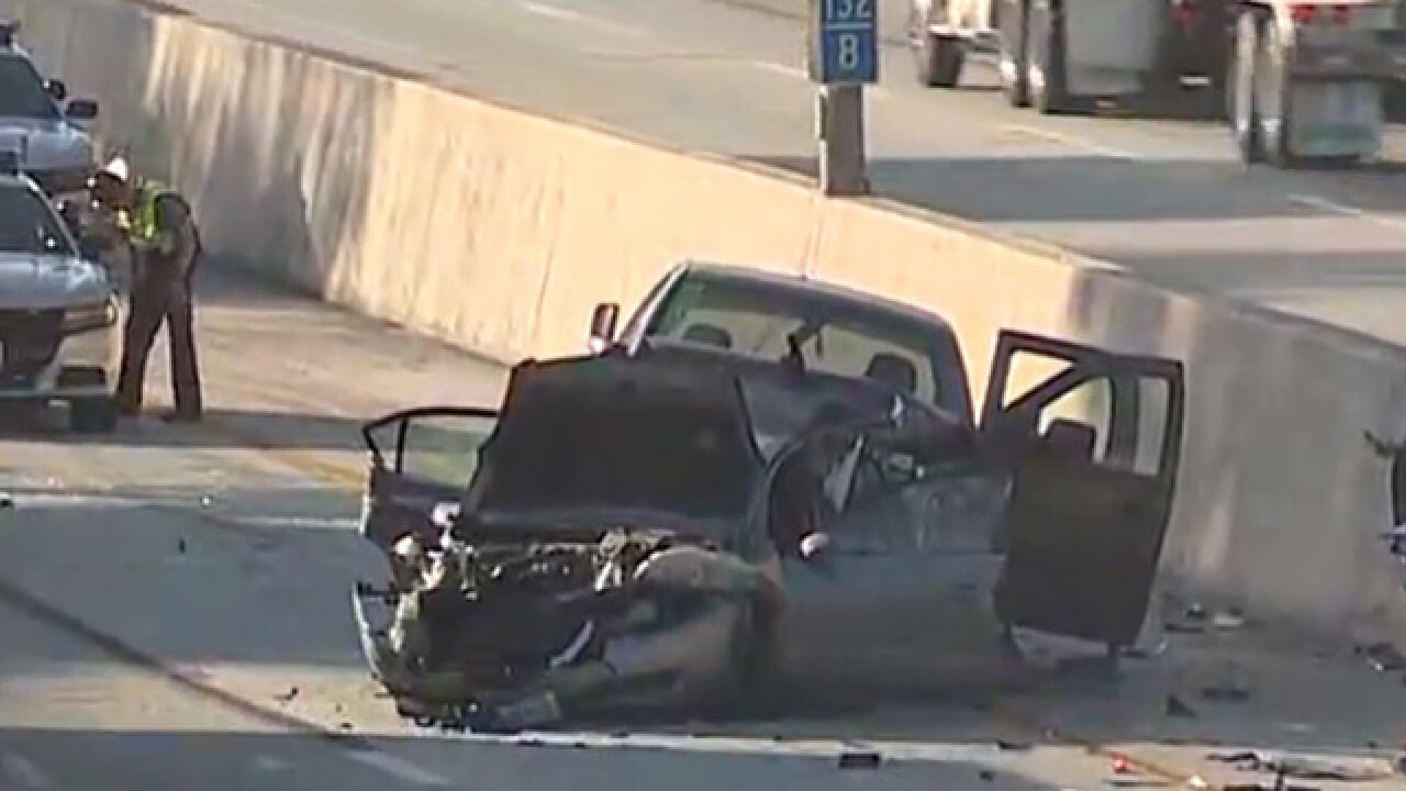 38-year-old man dies after truck rear-ends two cars from