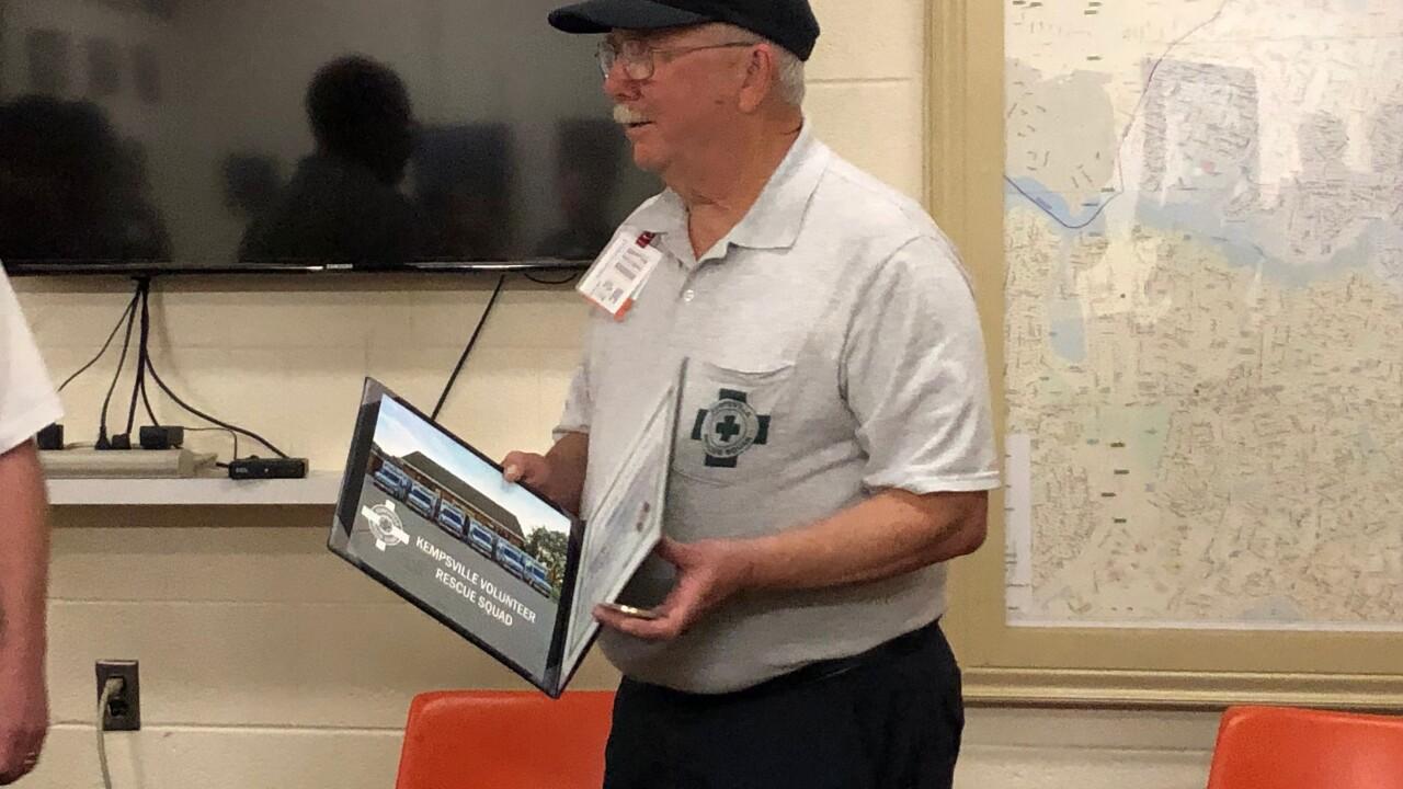 Virginia Beach EMT volunteer honored for half century ofservice