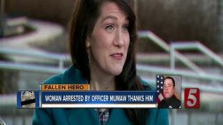 Woman Arrested By Officer Mumaw Thanks Him