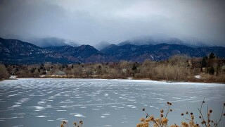 Cold and cloudy Quail Lake
