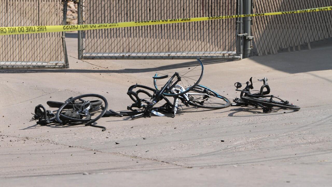 Bicyclists Struck Driver Shot