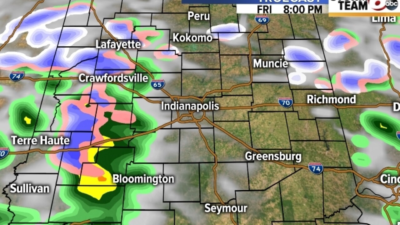 TIMELINE: Sleet, snow, rain all day long