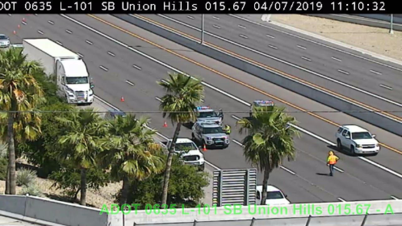 SUV sought after deadly motorcycle crash on L-101 near Union Hills