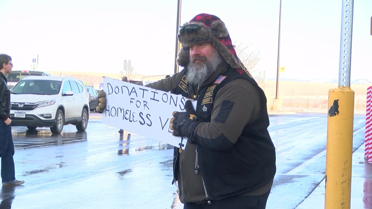 "Motorcyclists participate in annual ""Operation Warm Vet"" in Great Falls"