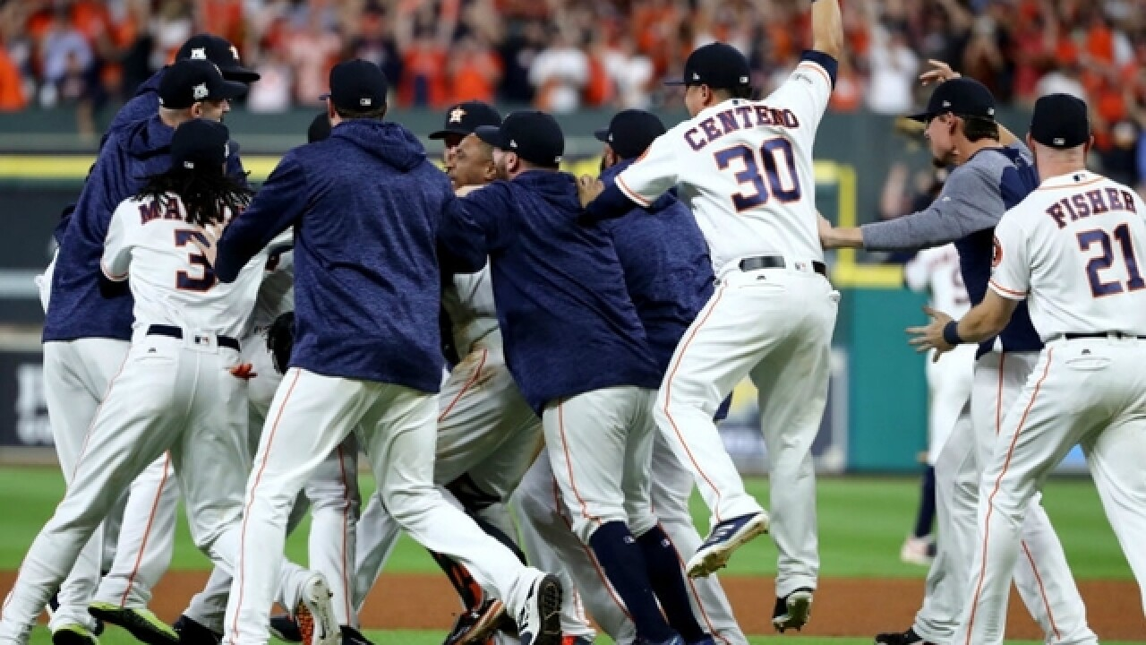 Astros reach World Series, top Yankees 4-0 in Game 7 of ALCS