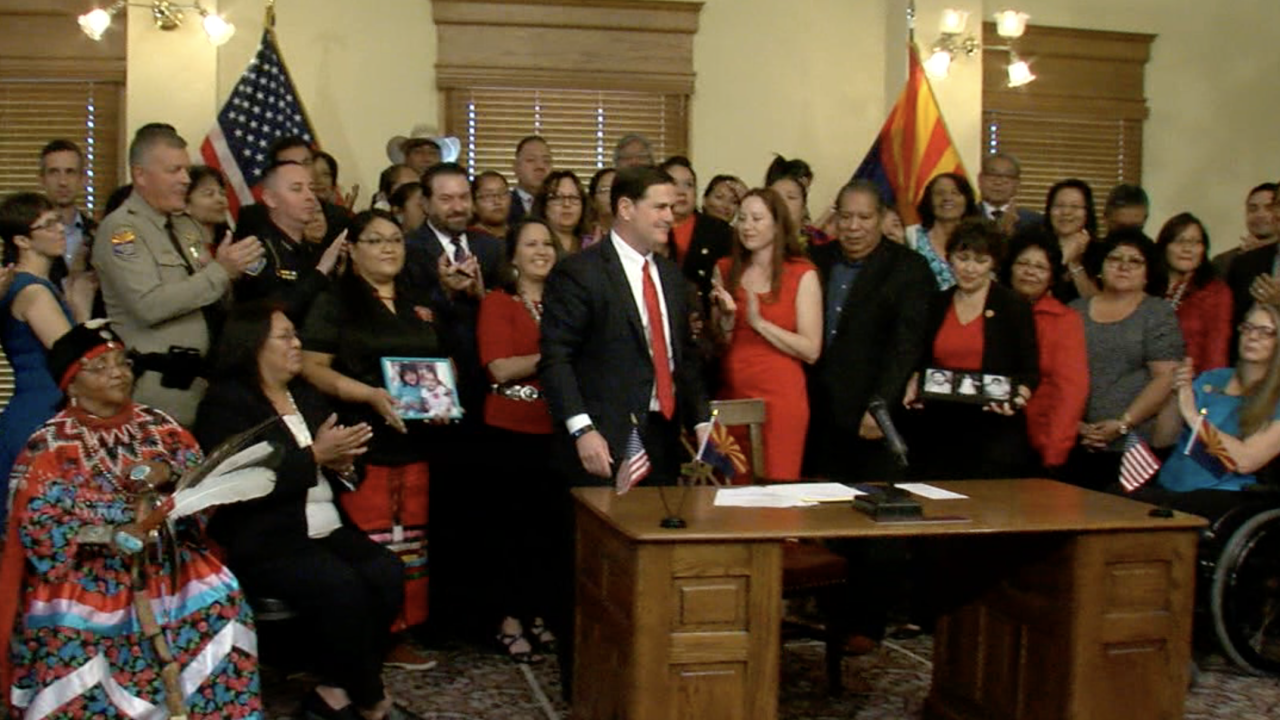 Ducey signs bill for indigenous women 8-13-19